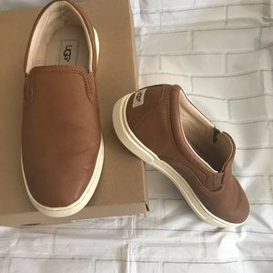 Authentic Ugg Fierce leather slip on